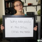 Girl Quits Job Through White Board