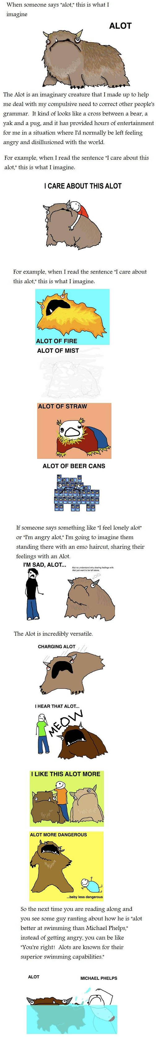 Funny Image: Alot vs A lot