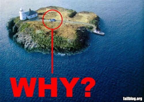 Car On Small Island - WHY!?