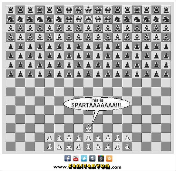 Chess Set - This is Sparta - Movie 300