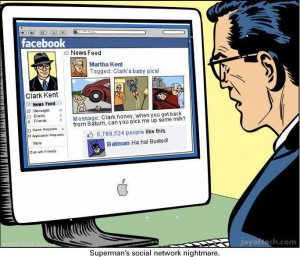 Clark Kent - Superman - Busted On Facebook