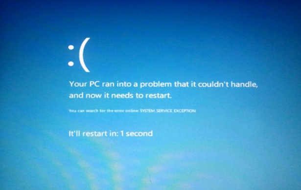Blue Screen of Death Windows xp Windows 8 Blue Screen of Death