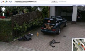Google Street View Naked Guy in Trunk