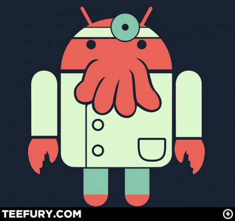 Futurama Dr. Zoidberg and Google Android