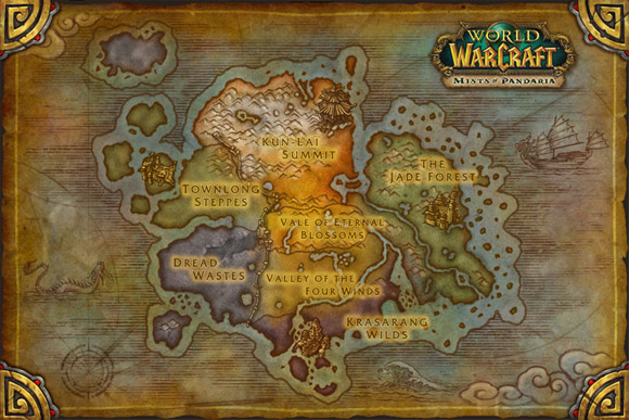 Mists of Pandaria Map