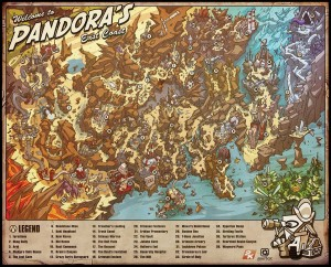 Borderlands 2 Map of Pandora